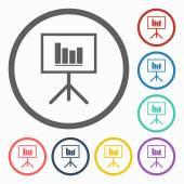 Presentation board Icon — Stock Vector