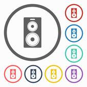 Audio speakers icon — Stock Vector