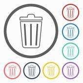 ゴミ箱のアイコン — ストックベクタ