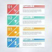 Banner design template infographics — Vector de stock