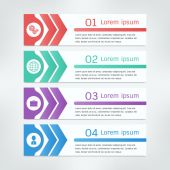 Banner design template infographics — Vetorial Stock