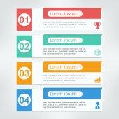 Banner diseño plantilla infografía — Vector de stock