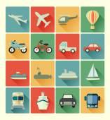 Conjunto de ícones de veículo — Vetorial Stock