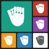 Baseball glove icon — Stock Vector