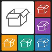 Box icon — Vettoriale Stock