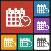 Calendar & clock icon — ストックベクタ