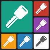 Car key icon — Stock Vector