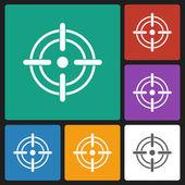 Crosshairs icon — ストックベクタ