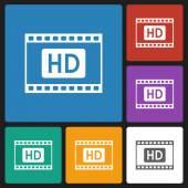 Film strips hd icon — Stock Vector