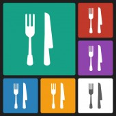 Fork knife icon — Stock Vector
