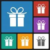 Giftbox icon — ストックベクタ