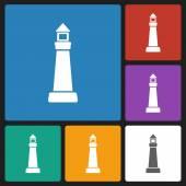 Lighthouse icon — Stock Vector