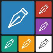Pen icon — Stock Vector
