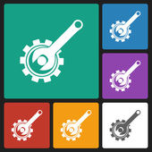 Gear & wrench icon — Cтоковый вектор
