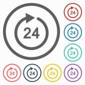 значок 24 часа — Cтоковый вектор