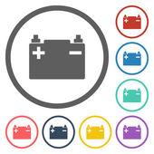 Car battery icon — Stock Vector