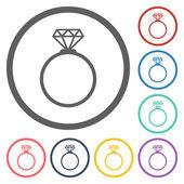 Diamond ring ikonen — Stockvektor