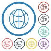 Global icon — Stock Vector