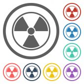 Radioactive sign icon — Stockvector