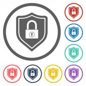 Shield lock icon — Vector de stock