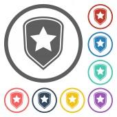 Shield star icon — Stockvektor