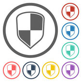 Ikonen med säkerhetssköld — Stockvektor