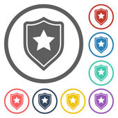 Shield star icon — Stockvector