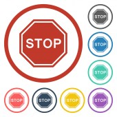 Stop traffic sign icon — Stock Vector