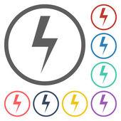 Thunder icon — Stock Vector