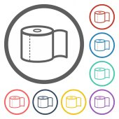Toilet paper icon — Stock Vector