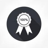 100 percent badge icon — Stock Vector