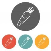 胡萝卜图标 — 图库矢量图片