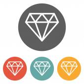 Diamond icon — Stock Vector