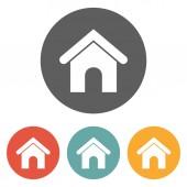 Sull'icona Home Page — Vettoriale Stock