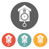 Home clock icon — Stock Vector