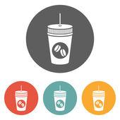Koffie pictogram — Stockvector