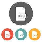 File PDF icon — Stock Vector
