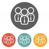 Businessman team icon — Stockvector