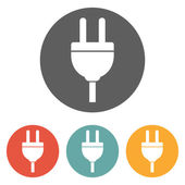 Icône de prise électrique — Vecteur