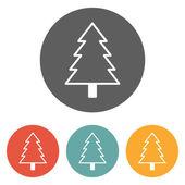 символ рождественской елки — Cтоковый вектор