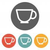 Иконка Чашка кофе — Cтоковый вектор