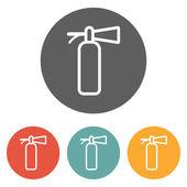 Fire extinguisher icon — Stock Vector