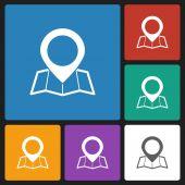 Pin map icon — Stock Vector