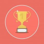 奖杯杯平面图标 — 图库矢量图片