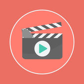 Filmslate icon — Stock Vector