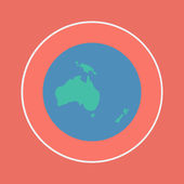 Oceania continent icon — Stock Vector