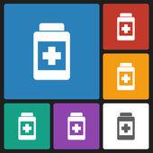 Medicine bottle icon — Stock Vector