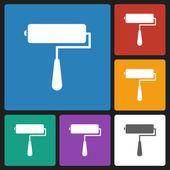 Roller brush icon — Stock Vector