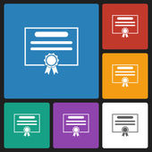 Certificate icon — Stock Vector