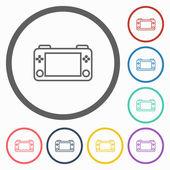 Game portable icon — Stock Vector